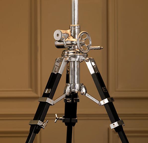Royal Marine Aluminium Floor Lamp, Marine Floor Lamp