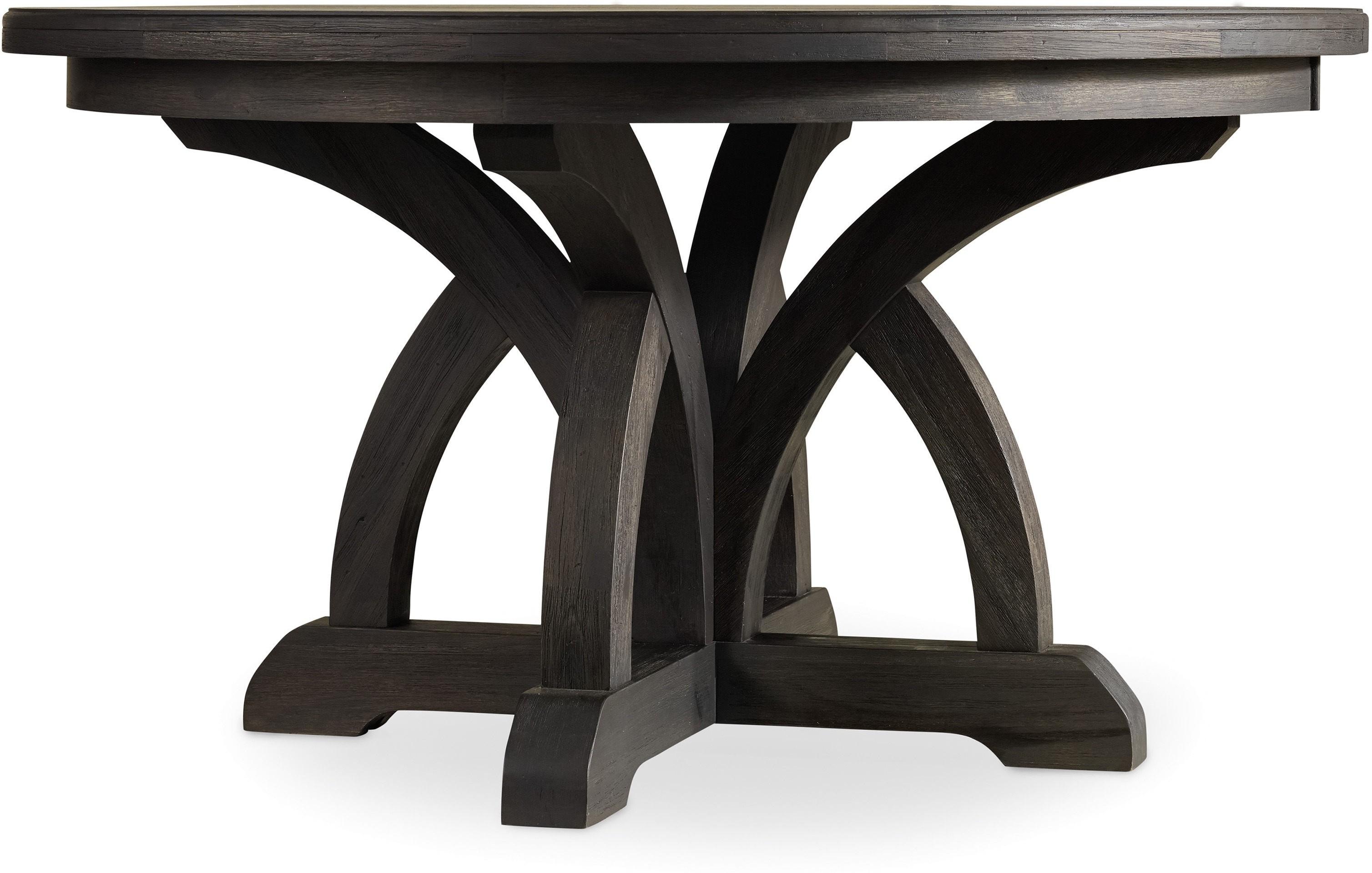 Corsica Dark Round Dining Table