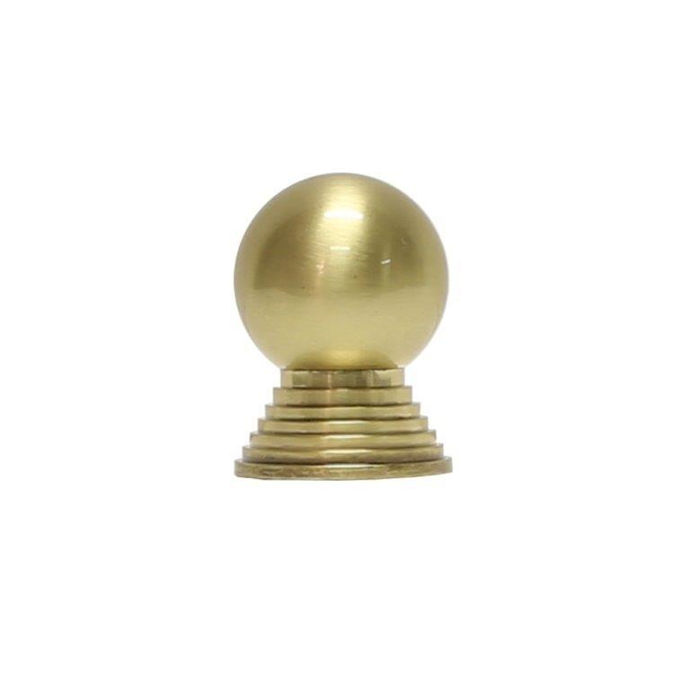 Betsy Round Brass Knob With Tiered Stem