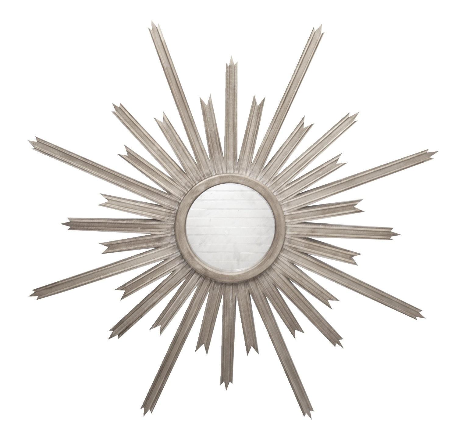 Worlds Away Starlata Mirror in Silver