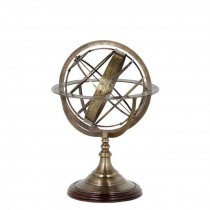 Small Brass Globe