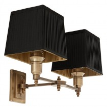 EICHHOLTZ LEXINGTON WALL LAMP DBL/BRASS