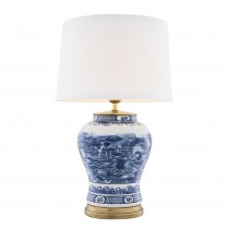Chinese Blue Table Lamp