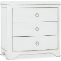 Modern Romance White Bedside Table