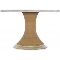 Amani Round Pedestal Dining Table with Marble Top