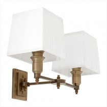 EICHHOLTZ LEXINGTON WALL LAMP DBL/WHITE
