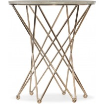 Highland Park Round Side Table with Marble Top
