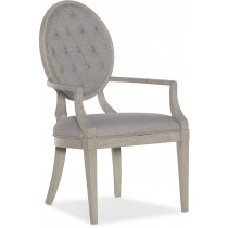 Reverie Tufted Dining Arm Chair