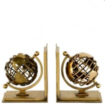Globe Brass Bookend Set of 2