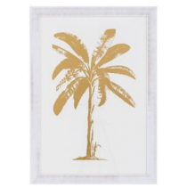 Gold Foil: Tropical Palm Print