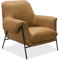 Ambroise Metal Frame Brown Armchair
