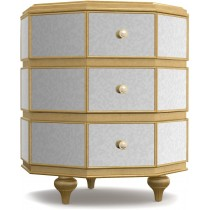 Cynthia Rowley Bewitch Mirrored Octagonal Bedside Table