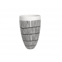 Black & White Extra Large Ceramic Vase