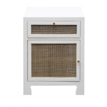 Ruth Cane Side Cabinet White Lacquer