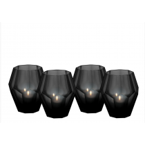 Okhto Small Black Tealight Holder Set of 4