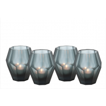 Okhto Small Blue Tealight Holder Set of 4