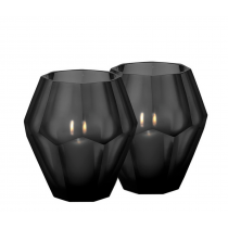 Okhto Large Black Tealight Holder Set of 2