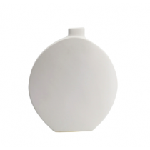 White Oval Ceramic Bud Vase
