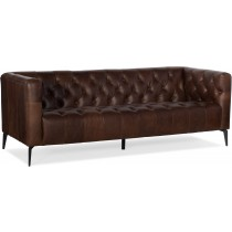 Nicolla Brown Leather Sofa