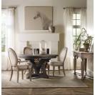 Corsica Dark Round Dining Table lifestyle