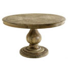 Leeds Parquette Smoked Oak Dining Table front